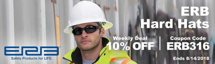 Weekly Deal - ERB Hard Hats on Sale - Valid Thru 814