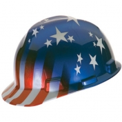 MSA V-Gard Hard Hat- American Stars and Stripes