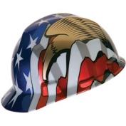MSA V-Gard Hard Hat- American Stars and Stripes with Eagle