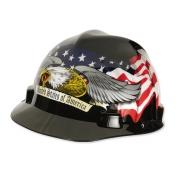 MSA V-Gard Hard Hat- American Eagle