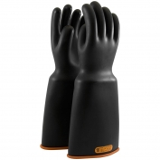 PIP Novax Rubber Insulating Gloves - 16 Inches - Class 4 - Bell Cuff - Black