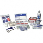 Refill Kit for Bulk First Aid Kit - 25 Person Plastic Case with Dividers