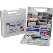 Bulk First Aid Kit, ANSI - 50 Person Plastic With Dividers