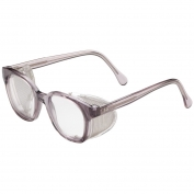 Bouton 5900 Traditional Safety Glasses - Smoke Frame - Clear Anti-fog Lens
