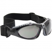 Bouton 250-50-0421 Fuselage Safety Glasses/Goggles - Black Foam Lined Frame - Gray Anti-fog Lens