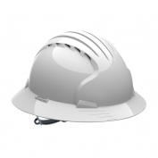 JSP Evolution 6141V Deluxe Full Brim Vented Hard Hat - Slip Ratchet Suspension - White