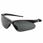 Nemesis Polarized Safety Glasses - Gunmetal Frame - Smoke Lens