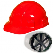 Jackson 14418 Sentry III Hard Hat - Ratchet Suspension - Red