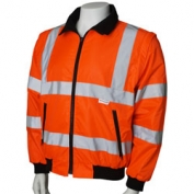 ANSI Class 3 Convertible Parka with Silver Reflective Stripes- Orange