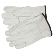 Memphis 3203 Industry Grade Grain Cowhide Leather Drivers Gloves - White