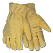 Memphis 3420 Industry Grade Gold Grain Pigskin Leather Driver Gloves - Keystone Thumb - Natural