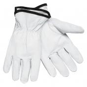 Memphis 3611 Premium Grade Grain Goatskin Leather Driver Gloves - Keystone Thumb - White