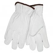 Memphis 3613 Select Grade Grain Goatskin Leather Driver Gloves - Keystone Thumb - White