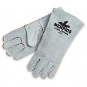 Memphis 4150 Premium Select Shoulder Cow Leather Welder Gloves - Gray
