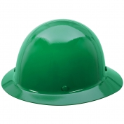 MSA 454668 Skullgard Full Brim Hard Hat - Staz-On Suspension - Green