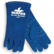 Memphis 4600 Blue Beast Cow Select Side Leather - Welders Gloves - Sewn with Kevlar - Blue