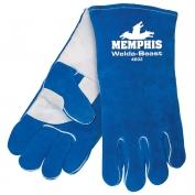Memphis 4602 Welda Beast Select Side Split Cow Leather - Welders Gloves - Foam Lined - Blue