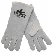 Memphis 4700 Mustang Premium Select Side Leather - Welders Gloves - Wing Thumb - Gray