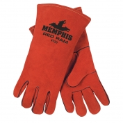 Memphis 4720 Red Ram Select Split Side Cowhide Leather - Welders Gloves - Wing Thumb - Red