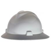 MSA 475369 V-Gard Full Brim Hard Hat - Fas-Trac Suspension - White