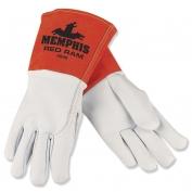 Memphis 4840 Red Ram Premium Grain Goatskin Leather - MIG/TIG Welders Gloves - White