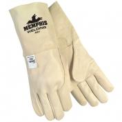 Memphis 4901 Premium Grain Cowhide Leather - MIG/TIG Welders Gloves - Natural