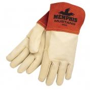 Memphis 4950 Mustang Premium Top Grain Cowhide Leather - MIG/TIG Welders Gloves - Red