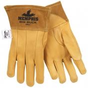 Memphis 4982 Big Buck Premium Grain Deerskin Leather - MIG/TIG Welders Gloves - Yellow