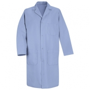 Red Kap Men\\\'s Four Snap Front Lab Coat - Light Blue