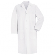 Red Kap Men\\\'s Four Snap Front Lab Coat - White