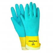 Memphis Gloves ChemTech Blue Neoprene Over Yellow Latex