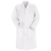 Red Kap Men\\\'s Four Button Front Lab Coat