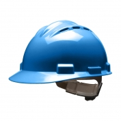 Bullard S62KBR Standard Vented Hard Hat - Ratchet Suspension - Kentucky Blue