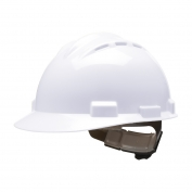 Bullard S62WHR Standard Vented Hard Hat - Ratchet Suspension - White