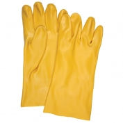 Memphis 6612 Single Dipped PVC Coated Gloves - Interlock Lined - Yellow - 12 inch