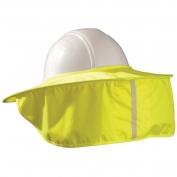 MiraCool Stow-Away Hard Hat Neck Shade - Hi-Viz Yellow