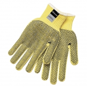 Memphis 9366 100% Kevlar Gloves - 7 Gauge - PVC Dots Both Sides - Cut Resistant - Yellow