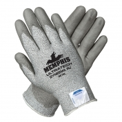 Memphis 9676 UltraTech PU Coated Palm String Knit Gloves - Dyneema Shell - 13 Gauge - Gray