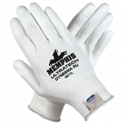 Memphis 9677 UltraTech PU Coated Palm String Knit Gloves - Dyneema Shell - 13 Gauge - White