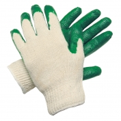 Memphis Green Latex Dip Palm Small Gloves