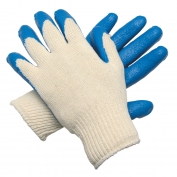 Memphis Blue Latex Dip Palm Small Gloves