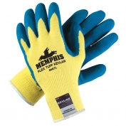 Memphis 9687 FlexTuff Latex Coated Palm Gloves - Kevlar Shell - Yellow/Blue