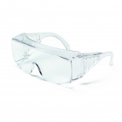Crews Yukon XL Safety Glasses - Clear Uncoated Lens - Fits Over Prescription Glasses