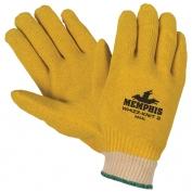 Memphis Vinyl Dipped, Knit Wrist Gloves