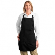 Port Authority A500 Full Length Apron with Pockets - Black