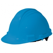 North A59 Peak Hard Hat - Plastic Suspension with Pinlock Adjustment - Sky Blue
