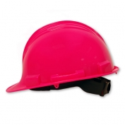 North A59 Peak Hard Hat - Plastic Suspension with Pinlock Adjustment - Hot Pink