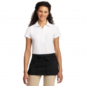 Port Authority A707 Easy Care Reversible Waist Apron with Stain Release - Black