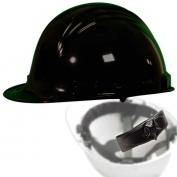 North A79R Peak Hard Hat - Nylon Suspension with Ratchet Adjustment - Black