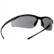 Bolle 40045 Contour Safety Glasses - Dark Gunmetal Frame - Smoke Anti-Fog Lens